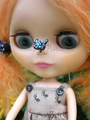 Hello There! (EmbellishYourself) Tags: butterfly pepper doll upcloseandpersonal blythephotochallenge