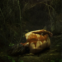disintegration and fossilization (brookeshaden) Tags: forest dark woods sticky surreal decompose molasses disintegration brookeshaden texturebylesbrumes