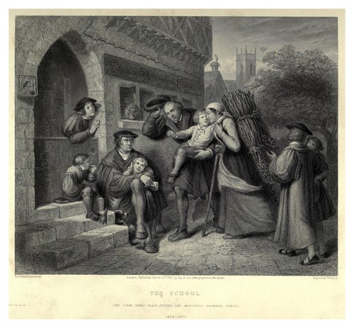 001-La escuela-Illustrations of the life of Martin Luther 1862- Pierre Antoine Labouchère