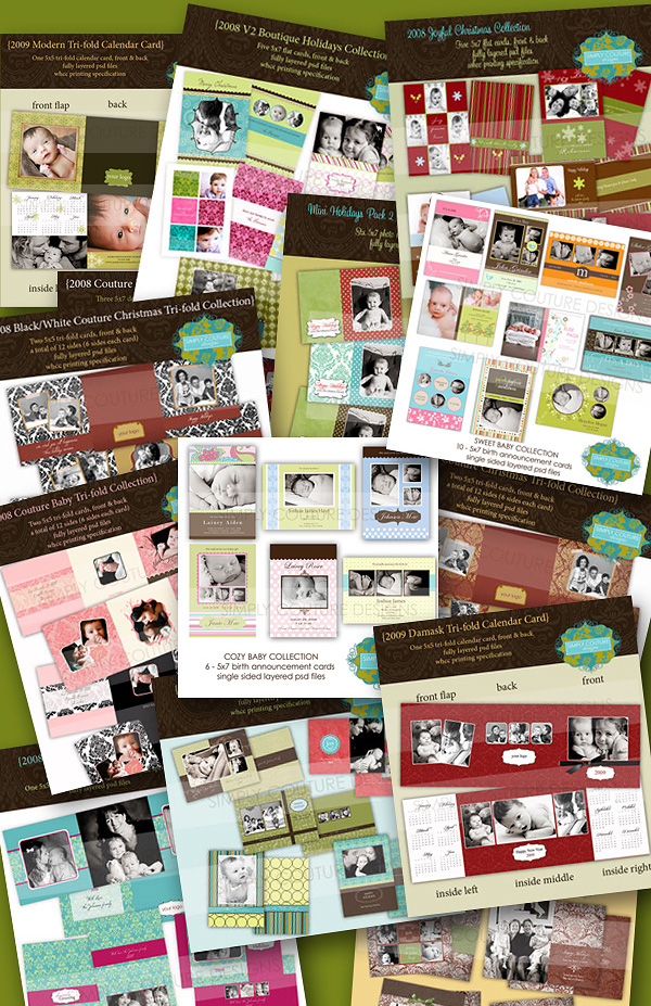 2008 Simply Couture Designs Card Template Bundle Collection