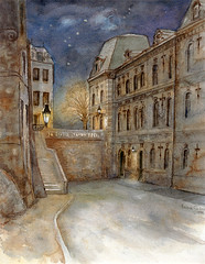 Art: aquarelle: LUXEMBOURG-Ville, ancien batiment de la Justice de Paix (Nadia Minic) Tags: blue shadow art night watercolor painting photo interestingness nadia europe artist gallery foto nacht kunst aquarelle kultur culture galerie exhibition ombre bleu exposition painter watercolour blau luxembourg nuit artcontemporain schatten gebude oeuvre couleur ville batiment encre interessantes atelier acuarelas aquarell beauxarts maler harmonie minic acquarello pittrice artistepeintre cityofluxembourg justicedepaix aquarelliste stadtluxembourg villedeluxembourg watercolourpainter nadiaminic nadiaart aquarellistin aquarellmalerin luxembourgpainting peintureluxembourg luxembourgartistepeintre