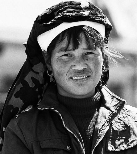 Uigher woman. Kashgar.