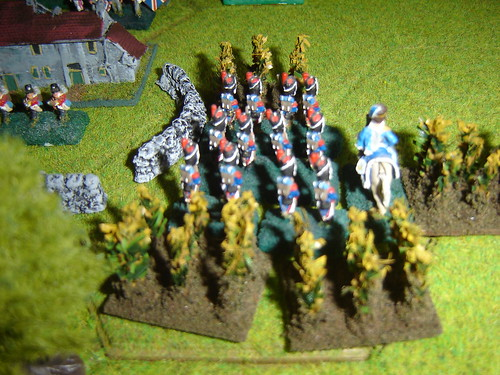French under Reille advance through Cornfield