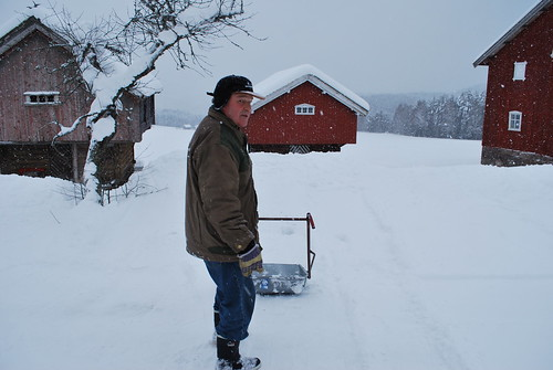 dad in the snow