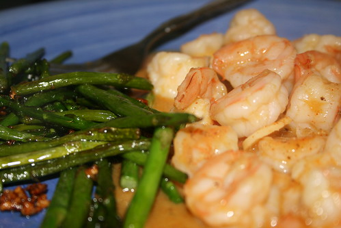 Orange Garlic Shrimp and Asparagus