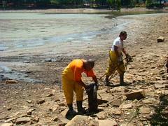 Limpeza do fundo do lago