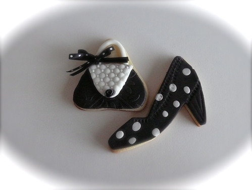 Purse and shoe sugar cookie