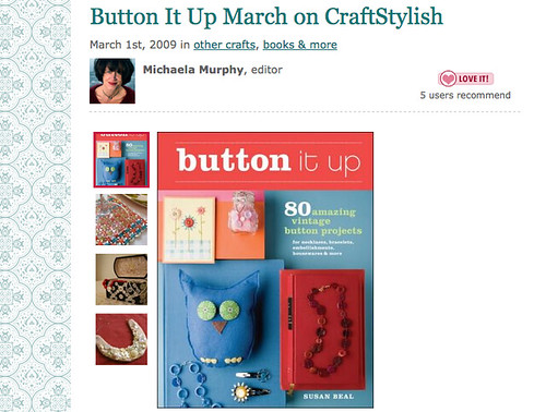 Button It Up month on CraftStylish!