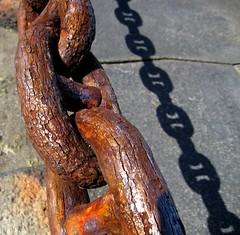 Don't Chain me in.........or chain of fools.. as mentioned by Kathy .. (Bionic Rhonda, back slowly) Tags: sanfranciscobay blueribbonwinner justonelook nothingbutthebest rubyaward rubyphotographer goldenheartaward doubledragonaward cindersmomroma bythebaseofthegoldengatebridgeonthesanfranciscoside therustedchain andtheshadowscreateastrangereality beautifuldayonthebay vividcorrision chainsaresouseful eventheoneswecantsee ortheycanbesosurpressiveandtoxic iprefertobreakthetoxicandemotionaltiesthataredestructive andenjoythebeautyoflifeandrelationships