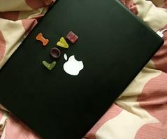 I LOVE  (ingridesign) Tags: black love nerd apple macintosh yummy mac colours yum candy geek sweet laptop letters leeds sweets alphabet ilove duvet  macbook alphabetcandy ilove