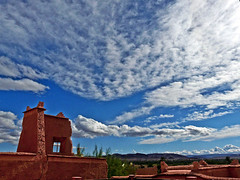 Kasbah Taourirt (Rosita So Image) Tags: sky cloud mountain nature architecture morocco 1001nights fortress ruines kasbah quarzazate otw taourirt