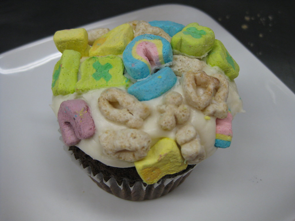 Behold, the Lucky Charms cupcake!