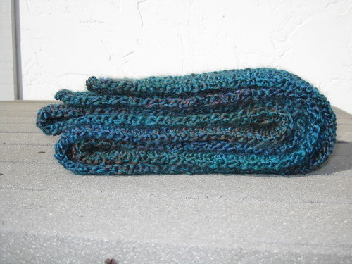 Blue Scrunchable Scarf Finished 3