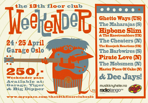 The 13th Floor Club Weekender flyer