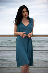 Summer Collection 2009 (Adi...) Tags: blue sea summer portrait woman black green nature girl grass fashion shirt forest dead spring model dress desert style sharon clothes collection levi       meddow