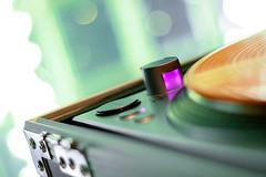Turntablism Mechanism (C. Laporga) Tags: pink blue light orange colors yellow rainbow aqua purple bokeh vinyl magenta turntable hip hop 50mmf18 canon30d primelens abigfave abigfav colorphotoaward 1sand2s rubyphotographer youronebest