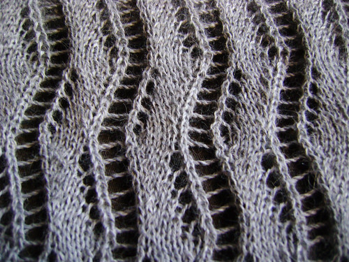 Lace Ribbon Scarf Close up