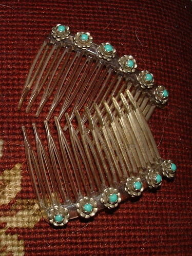 grandmothers turquoise combs