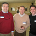 Peter Kiernan (COL '95), Don Woods (SFS '68) and Michael McCollum (SFS '00)