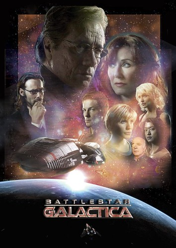 Battlestar Galactica - Star Wars Styled Poster, star trek wallpapers, startrek enterprise voyage, Star trek movie poster
