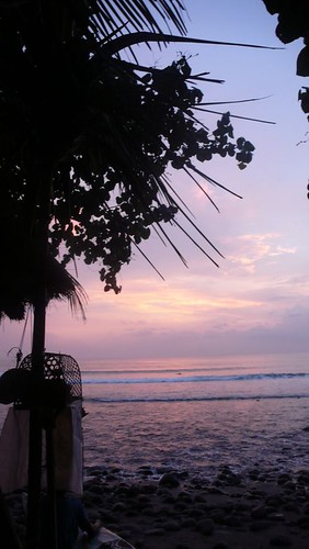 sunset in medewi