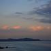 海辺の夕空