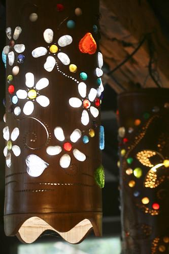 漂亮的桐花燈