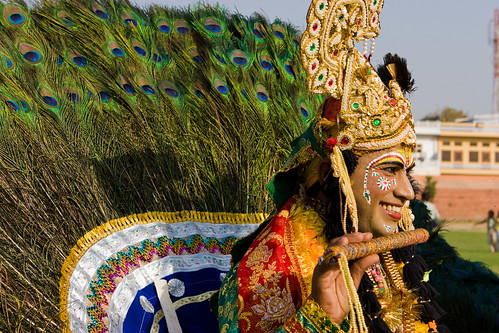 _MG_2273 Peacock the symbol of beauty - Elephant Festival - Jaipur India by © Cameron Herweynen.