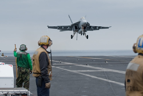VFA-14 Tophatters F-18 carrier landing