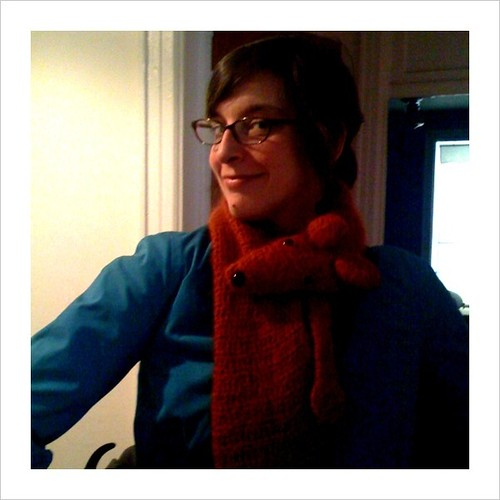 The fact that my friend can rock a fox (animal not the adjective) scarf makes her the most beautiful gal I know / felsull