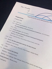 image of the running order for the Wealth Of Networks conference