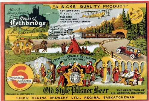 Beer Bottle Label From The Sick Brewery