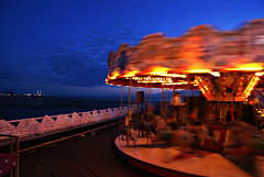 Carousel (Mark-F) Tags: light sky color colour beach wheel night lights coast pier sand sony carousel lancashire promenade lit 300 alpha railings blackpool markf fylde a300 northwestengland sonya300 sonyalpha300 300350 sonyalphalearningcenter sonyalphalearningcentre sonyalpha300350 sonya300ownersclub sonya300useronly