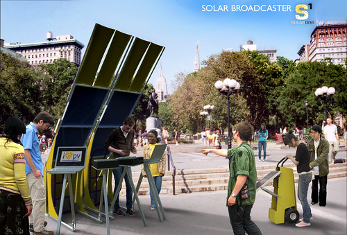 radio one solar powered mobile broadcast unit rendering