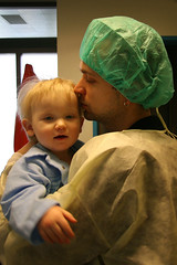 Going in to the operating room with Dad