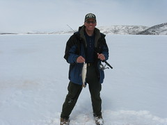 Me With an Average WF Lake Trout (fethers1) Tags: icefishing laketrout williamsforkreservoir