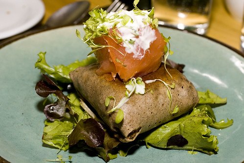 Buckwheat Crepe, Smoked Salmon & Crème Fraiche