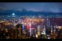 in full repertoire (millan p. rible) Tags: nightphotography light hk architecture night hub buildings hongkong harbor interestingness commerce cityscape view nightscape peak aerial explore handheld dri iso1600 victoriapeak highiso nightexposure victoriaharbour dynamicrangeincrease canoneos5d hongkongchina canonef24105mmf4lisusm millanprible heungkong infullrepertoire