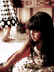 Polka dots (BintShama`) Tags: dress polka dot dots elegent