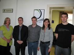 Monique Vanduffel, Wouter Van Mierloo, Yves Jansen, Evy Steensels en Steven