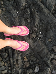 Lava Feet 2 (seaotter22) Tags: pink feet hawaii lava rocks toes sandals feets lavaland