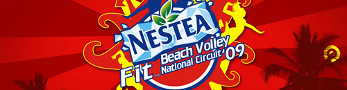Nestea Fit Beach Volley National Circuit logo