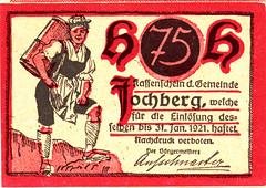 Fochberg, 75 heller, 1920 (Iliazd) Tags: old money klemens germany austria sterreich heller token 1920 autriche inflation brosch notgeld papermoney notaphily sterreichisches paranumismatica germancurrency emergencymoney 19171923 germanpapermoney