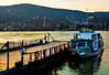 Ferry (10mmm) Tags: sunset mountain ferry river boat town nikon hungary village hill rug duna barge danube visegrad danau nagymaros d80