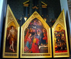 Seed of David triptych, Llandaff (robin.croft) Tags: painting triptych dantegabrielrossetti rosetti preraphaelites
