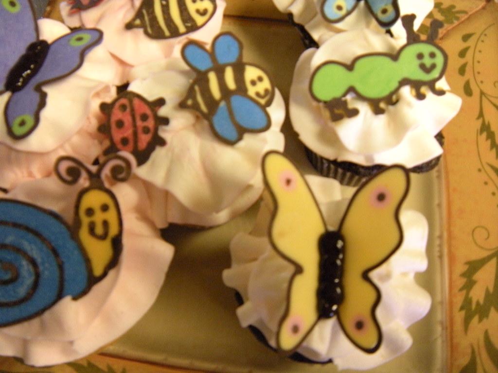 """springtime cupcakes """"bug"""""""