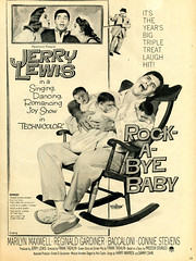 Rock-A-Bye Baby (felixtcat) Tags: film movie advertising babies ad advertisement 1958 triplets rockingchair jerrylewis rockabyebaby conniestevens marilynmaxwell