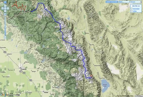GPSies: JMT Route