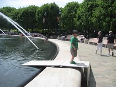 Owen on the duck ramp