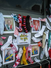 The Ladies of Sock It To Me (cee emily) Tags: houston artcar artcarparade houstonartcarparade2009